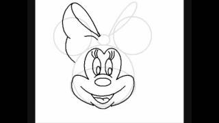 easy how to draw minnie mouse
