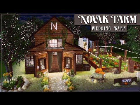 Novak Farm Wedding Barn   The Sims 4 CC Speed Build