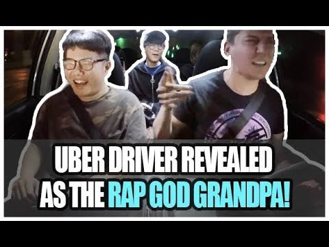 Uber Driver Revealed as the Rap God Grandpa!!!