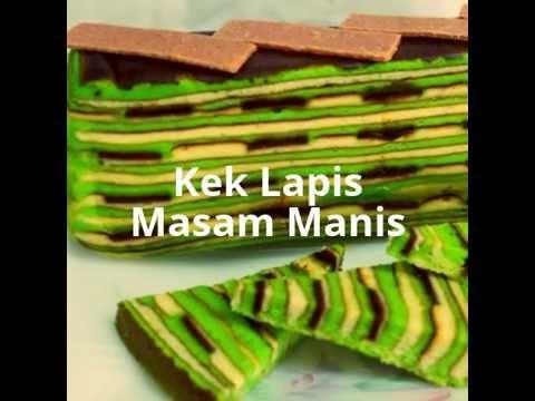 Resepi Kek Lapis Masam Manis - YouTube