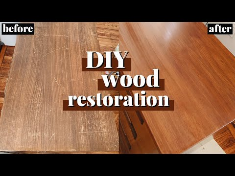 DIY Wood Restoration on a Mid-Century Modern Dresser Top! (Stripping, Staining, and Refinishing)