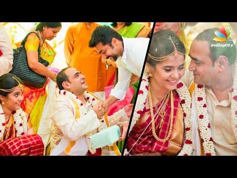 Suriya and celebrities attend 24 movie Director Vikram Kumar's wedding | Latest Marriages