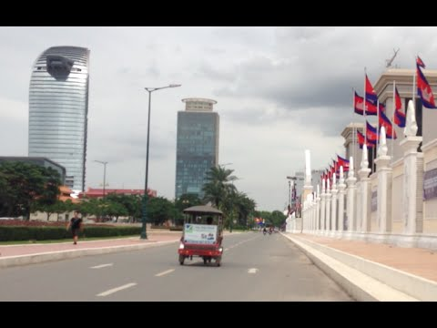 Explore Phnom Penh City from Ministry of National Defend to Canadia Tower