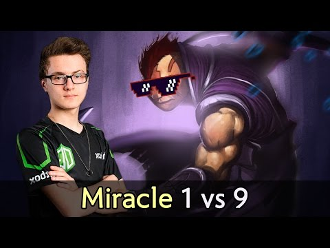 Miracle Anti-Mage 1 vs 9 — OG vs Wings Dota 2