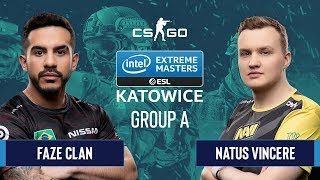 CS:GO - Natus Vincere vs. FaZe Clan [Nuke] Map 1 - Group A - IEM Katowice 2020