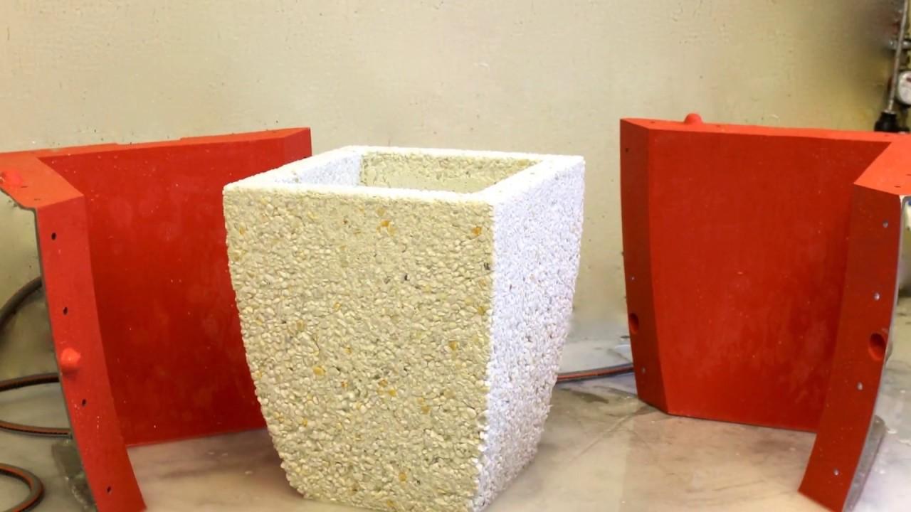 Мытый бетон вазоны цоколь дома отделка своими руками цементным раствором под камень