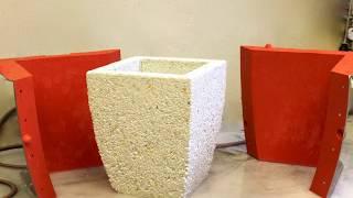 видео Скамейка из бетона на даче - чертёж и форма для отливки, продолжение