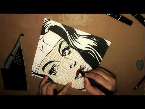 Pop Art Drawing - WONDER WOMAN [Bleebo ART]