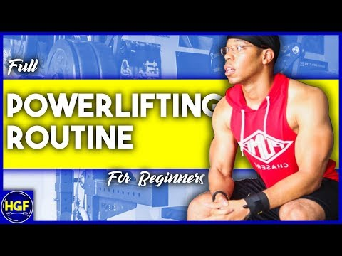Powerlifting workout routine for beginners