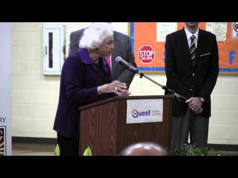 Sandra Day O'Connor Visits Quest Charter Academy, Peoria, Illinois, 4-10-13