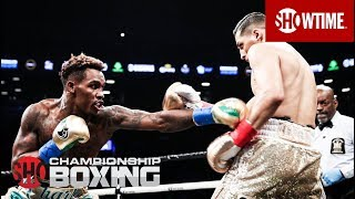 Jermall Charlo remains undefeated as he knocks out Hugo Centeno Jr. in round 2 to claim the WBC's interim 160-lb title. Follow SHOWTIME Sports Facebook: ...