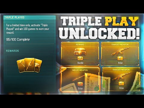 3 FREE DLC WEAPONS IN 1 TRIPLE PLAY SUPPLY DROP.. (Black Ops 3 FREE DLC WEAPON Unlocked)