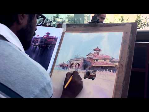Watercolour landscape demo(Teaser) by Vikrant Shitole