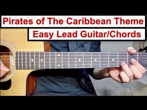 Pirates of The Caribbean Theme | EASY Lead Guitar/Chords Lesson (Tutorial) How to play the Lead