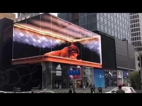 Huaxia 3D LED Video Display Screen/LED Digital billboard/Outdoor advertising display/LED Video Wall