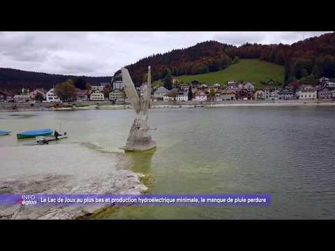Le Lac de Joux au plus bas et production hydroélectrique minimale, le manque de pluie perdure