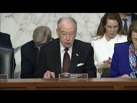Grassley Statement at Justice Dept. Oversight Hearing