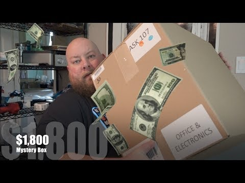 Opening An $1800 Amazon Mystery Electronics Liquidation Box For Resale + MAKE THAT MONEY!!