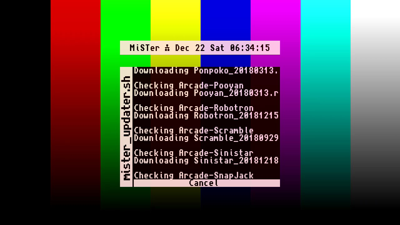 MiSTer (FPGA) Updater Script by Locutus73 (run on a new MiSTer SD card)