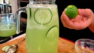 How to make THE BEST Fresh Cucumber Water (Agua Fresca) Views Recipe