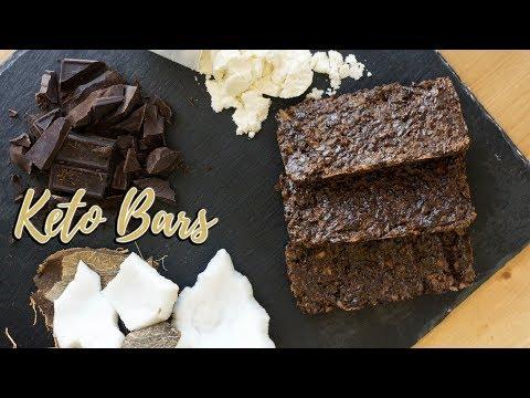 Homemade Keto Bars Recipe   Chocolate Coconut Bar   3g Net Carbs