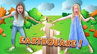 Giant EARTHQUAKE Destroys our HOUSE !!!