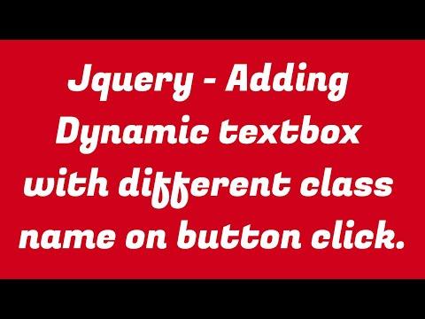 Adding Dynamic Textbox Via Button Click in Jquery thumbnail