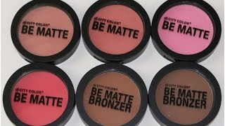 City Color Cosmetics Be Matte Blush  & Bronzers | Review & Swatches