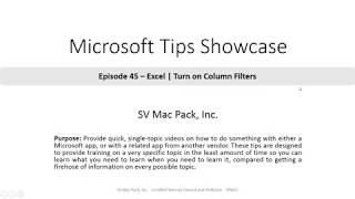 Turn on Column Filters in Excel | Microsoft 365 | Tip 45