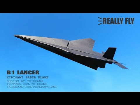 EASY PAPER AIRPLANE - How to make a Paper Airplane that Flies | B1 Lancer