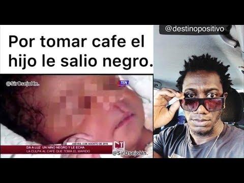Da a luz a un niño negro y echa la culpa al café que toma el marido