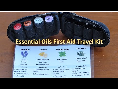 Essential Oils First Aid Travel Kit