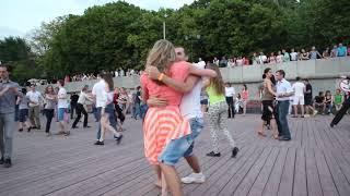 No panties. Pair Dance on OpenAir