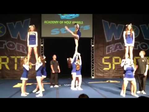 Academy of Holy Angels comp cheer squad day 2 at nationals