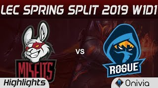 RGE vs MSF Highlights LEC Spring Split 2019 Rouge vs Misfits Gaming By Onivia