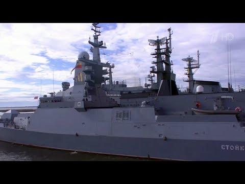 В Кронштадт для участия в параде в честь Дня ВМФ прибыл отряд катеров Каспийской флотилии.