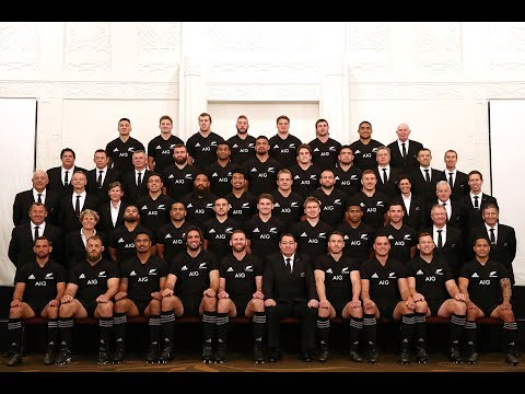 All Blacks squad photo for the DHL NZ Lions Series