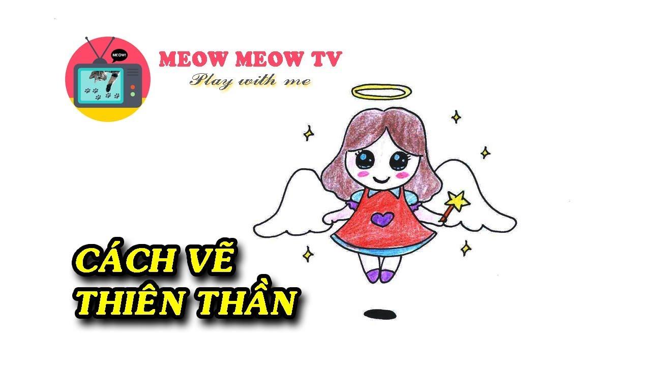 [MEOW MEOW TV] Cách vẽ thiên thần dễ thương – 천사 그리기