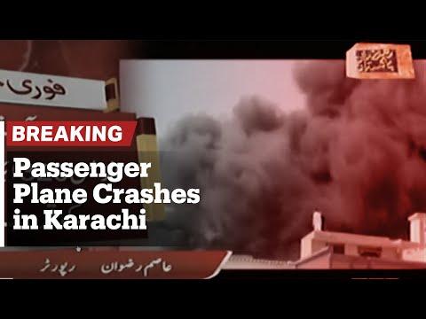Breaking: Passenger plane crashes in Karachi