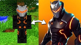 Minecraft Fortnite - OMEGA TRANSFORMED INTO A MINECRAFT SKIN! (Fortnite Mod)