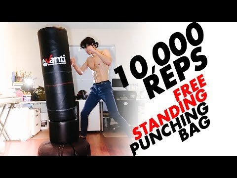 Best Free Standing Boxing Bag, My Routine For 10,000 Punches COMMENTARY