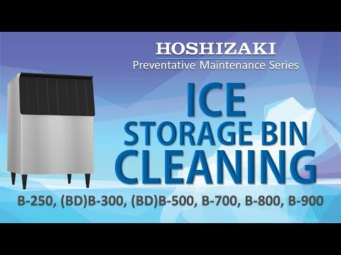 Hoshizaki Ice Storage Bin Cleaning Process