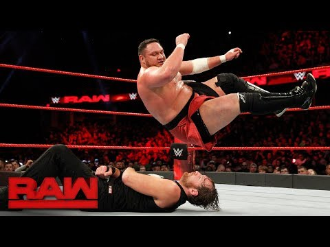 Dean Ambrose vs. Samoa Joe: Raw, Dec. 11, 2017