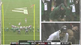 Epic Overtime - Virginia Tech vs Marshall 2013