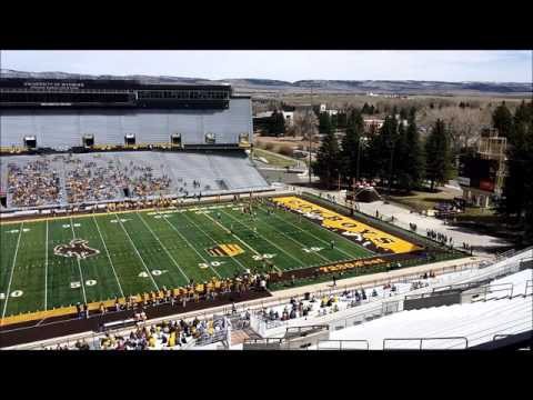 The Gold Teams Scores During Wyoming's Spring Game