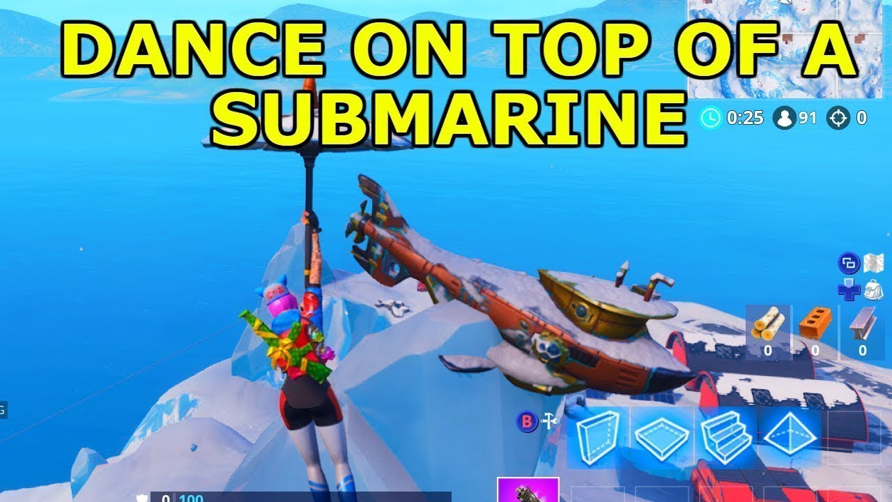 Dance On Top Of A Submarine Location Fortnite Battle Royal Season 7
