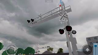 NS 9687 freight train passing through Glendale, Ohio Roblox