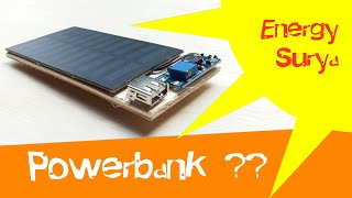 DIY - Cara Membuat Powerbank Tenaga Surya   How To Make Powerbank Solar Energy
