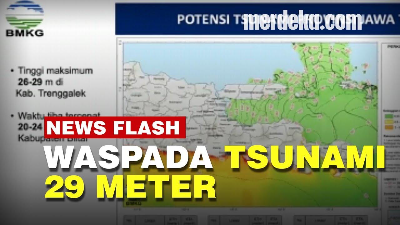 BMKG Ungkap Potensi Tsunami Tinggi di Pesisir Jawa Timur