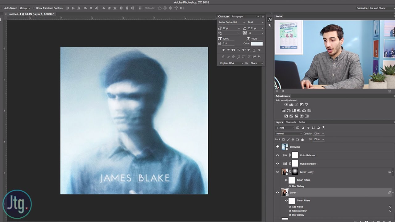 Photoshop Album Art Recreation James Blake Self Titled Youtube